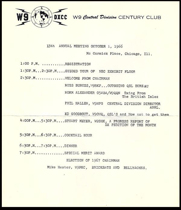1966 W9DXCC Program